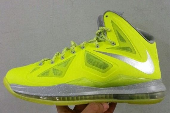 Exactly Fit Nike Air Max Lebron X Low Fluorescent green Volt Bla