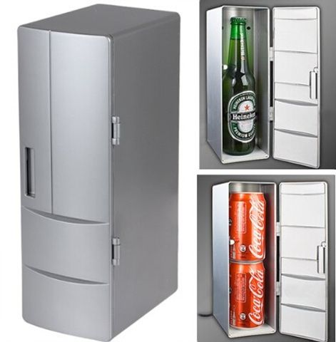41.47$  Know more  - Portable Mini USB Fridge Cooler Mini USB PC Refrigerator Beverage Drink Cans Freezer for Home New Cool Gadget - Plug and Play