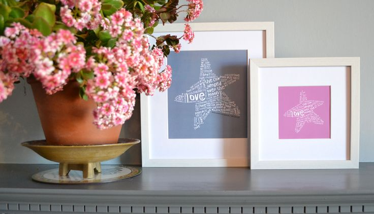 perfect personalised gift for new poppets : ) www.intheframedesign.co.uk
