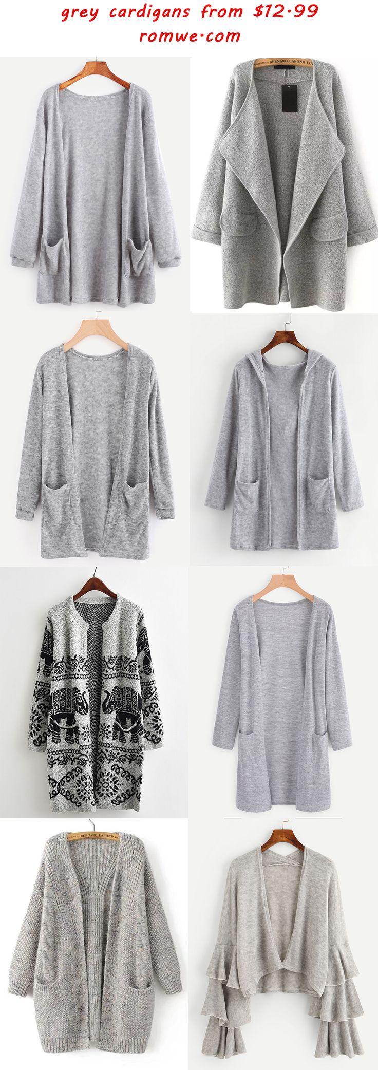 grey cardigans 2017 - romwe.com