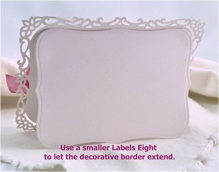 how to use spellbinders labels 8  and decorative labels 8 dies (or something similar) to make beautiful edged cards