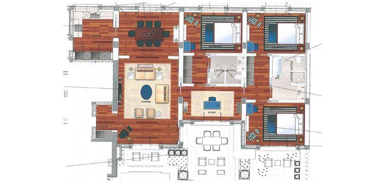 Tivat, Porto Montenegro – luxury penthouse apartment, Regent Hotel 190 sqm