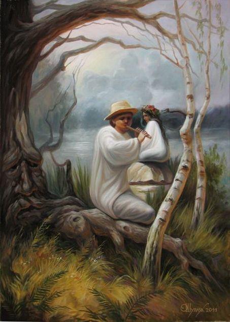 Картины-иллюзии Олега Шупляка. Три баяна