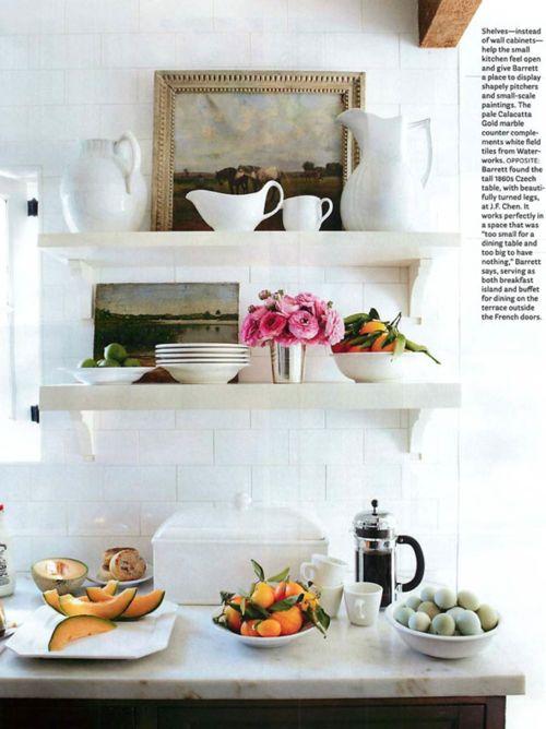 //: Kitchens Interiors, Kitchens Shelves, Kitchens Design, Open Shelves, Subway Tile, Design Kitchens, Modern Kitchens, Open Kitchens, White Kitchens