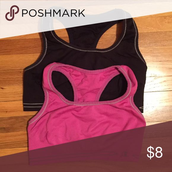 Champion Sports Bras 2 champion sports bras (pink and black). Both are in awesome condition. Champion Intimates & Sleepwear Bras