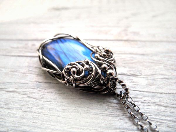 Labradorite necklace, silver statement pendant, natural gemstone with blue flash, sterling silver necklace, luxury gift for her by NurrgulaJewellery on Etsy https://www.etsy.com/listing/196597218/labradorite-necklace-silver-statement