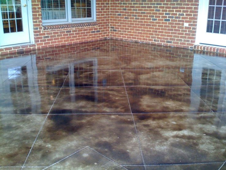 acid stain concrete yard pinterest acid stain concrete acid