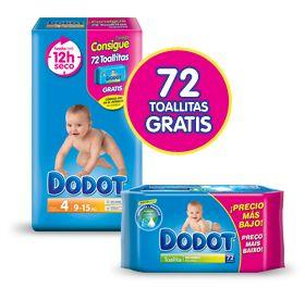 Dodot te regala 72 toallitas húmedas por la compra de un pack de sus pañales. Promoción válida para España hasta 30/03/2013.
