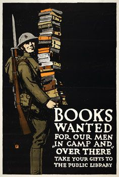 Library Poster: History, World War, Soldiers, Picture-Black Posters, Vintage, Books Posters, Reading Books, Wwii Posters, Public Libraries