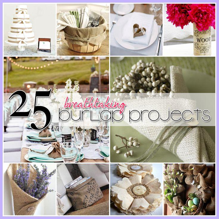 25 Burlap DIY's