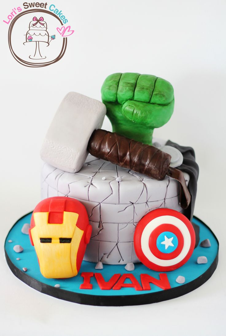 7 best Kids Birthday Cakes images on Pinterest Avenger cake