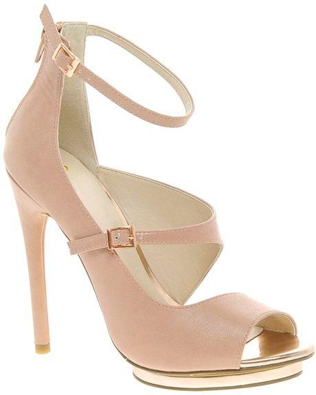 0477004bdd0d Asos Platonic Peep Toe Heeled Shoes Lyst