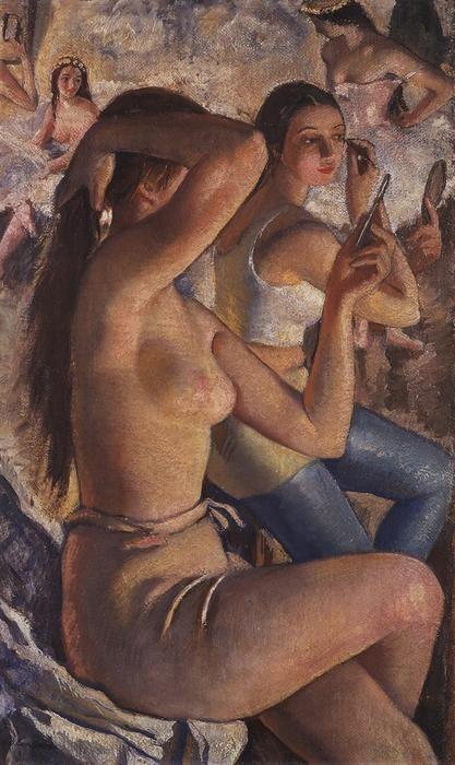 Zinaida Serebriakova - Ballet washroom (1924)