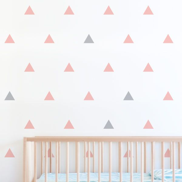 Create A Modern Feature Wall With Triangle Wall Stickers. Apply As A  Geometric Pattern To