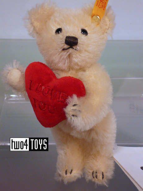 Steiff+002885+MINI+TEDDY+BEAR+I+LOVE+YOU+WITH+HEART