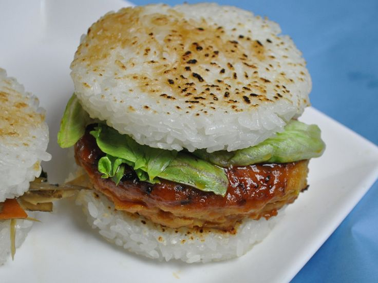 how to make rice burger