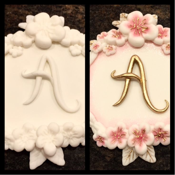 Painted fondant medallion--set your work apart from the rest...it's all in the details.  Designed and painted by Kathy.