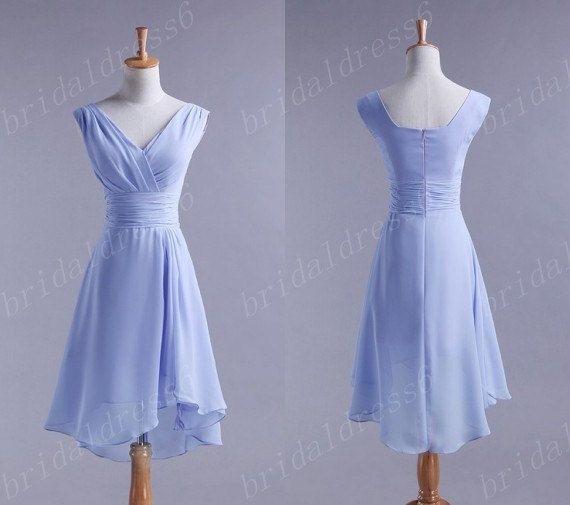 Light Purple Bridesmaid Dresses | 2014 Light Purple V-Neck Shoulder Straps A-Line Long Tiered Bridesmaid ...