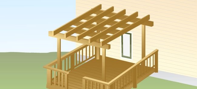 arbor/pergola for deck to replace shade from fallen oak tree