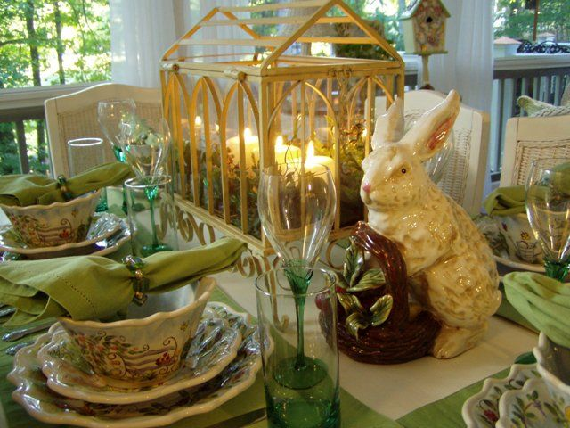 Attractive Springtime Tablescape With A Greenhouse Centerpiece Awesome Ideas