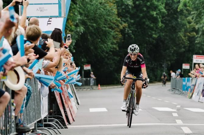 Eugenia Bujak solos in for the stage win and race lead at the Thüringen Rundfahrt