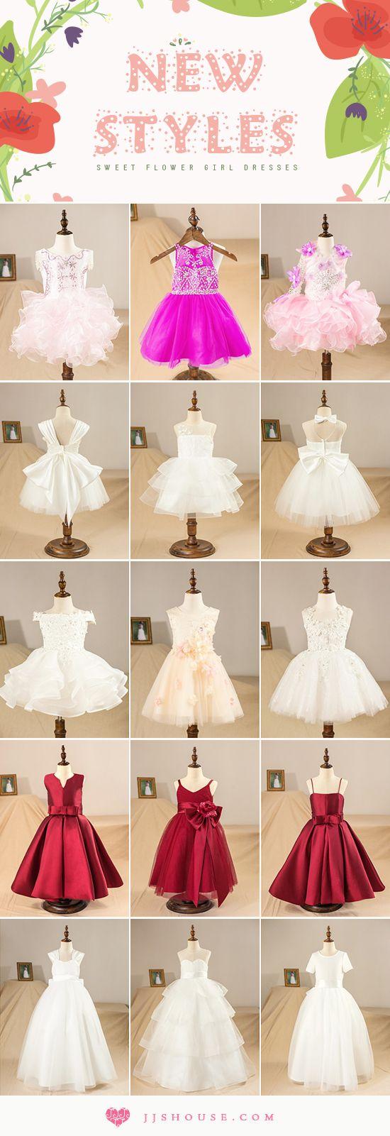 New Styles! Sweet Flower Girl Dresses #flowergirldress