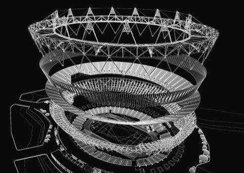 Olympic Stadium exploded diagram | blueprints rendered ...