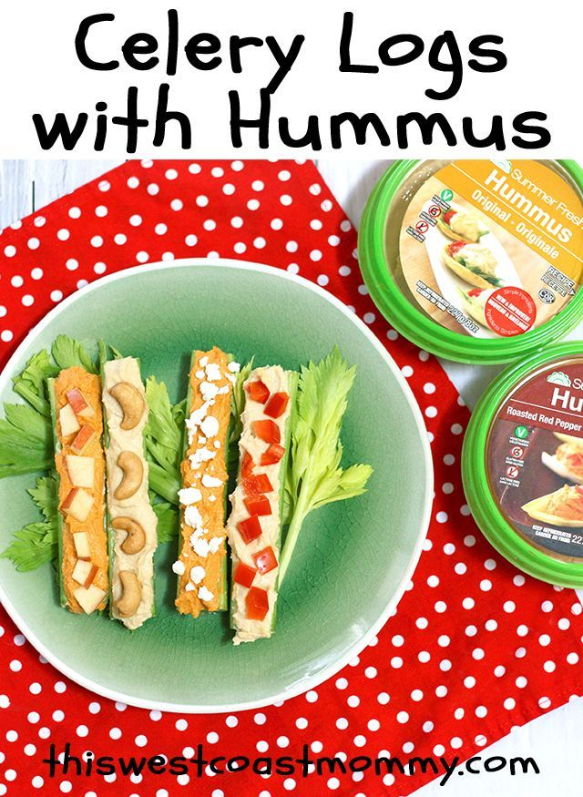 Update your classic ants on a log snack with Summer Fresh hummus. Easy, healthy…