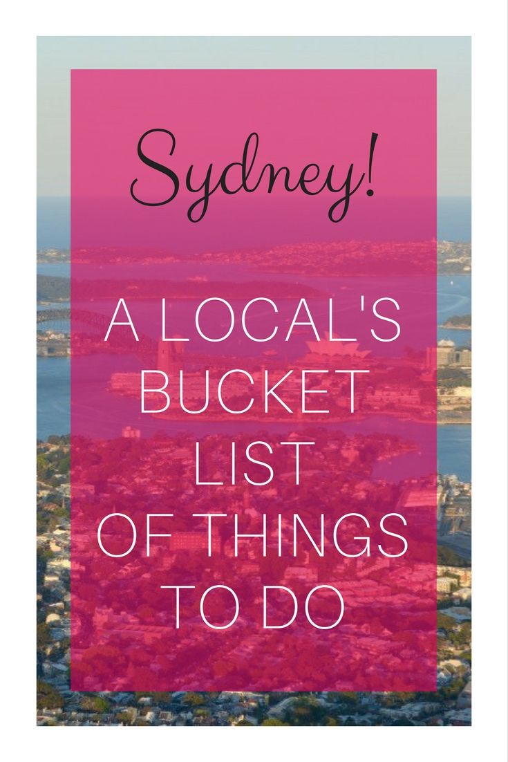 After 13 years in Sydney I am relocating to a new country. As a travel blogger I have seen a lot of things in my city of choice. But there are still many attractions and things that I haven't had chance of experiencing, so I put together a bucket list. Here is what I came up with.
