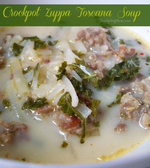 If you love Olive Garden's Zuppa Tuscana you are going to love this Copycat version that you make in the crockpot. This crockpot soup recipe is beyond amazing and only requires a few ingredients! That's a win for me.  It is perfect on an Autumn day.