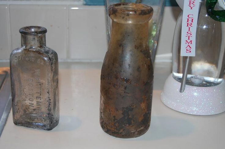 Tips to clean Creek Gunk off old bottles - Friendly Metal Detecting Forums