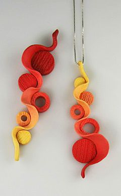 Earrings by Foss Creations. Made from polymer clay.
