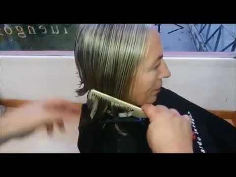 corte irregular y desconectado de dama 2017, LADY HAIRCUT 2017 - YouTube