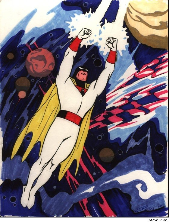 """""""Classic Space Ghost"""" by Steve Rude"""
