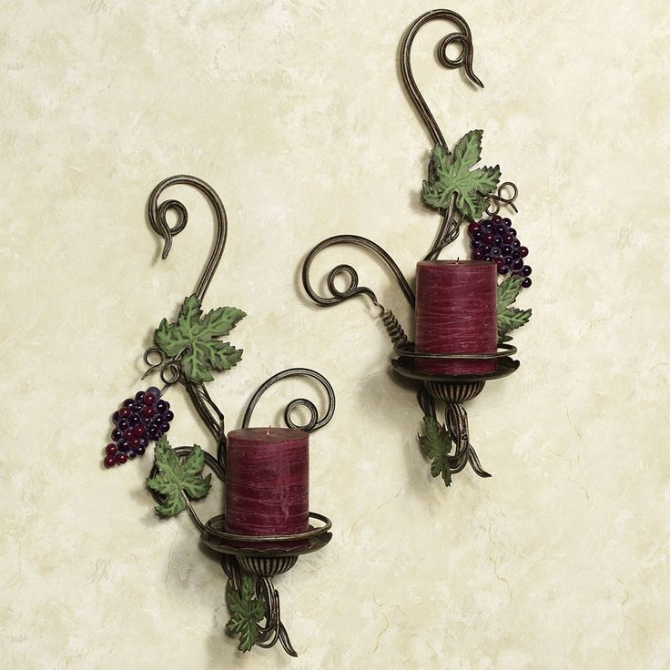 Wall Sconces With Grapes : 1000+ images about Wine and Grape Decor on Pinterest Wine bottle holders, Vineyard and Wine cellar