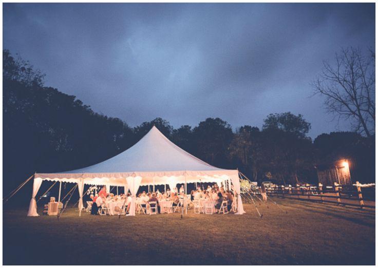 Vintage Farm Wedding Tent
