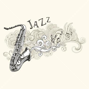 O saxofone foi ícone da década de 1920 . Sempre estampados em cartazes com todos os tipos de instrumentos emblemáticos