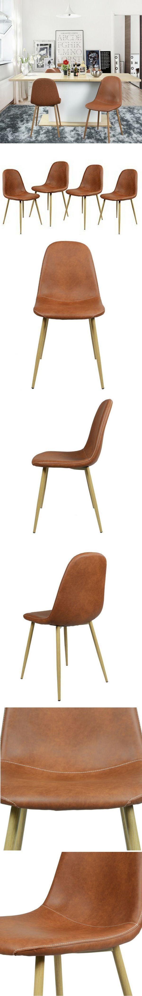 Table rectangulaire en bois clair chaises scandinaves et suspension - Ce Lot De 4 Chaises Scandinaves En Cuir Marron Est Seulement 126 99