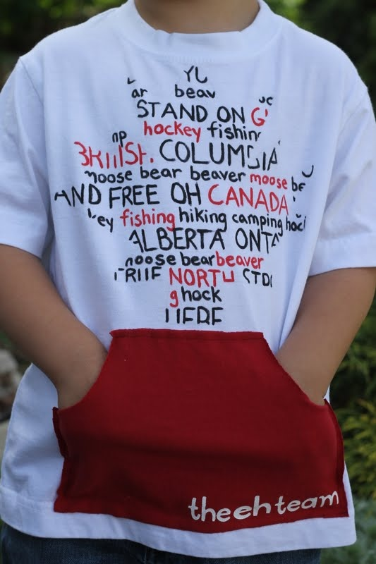 Canada Day T-shirt Tutorial...