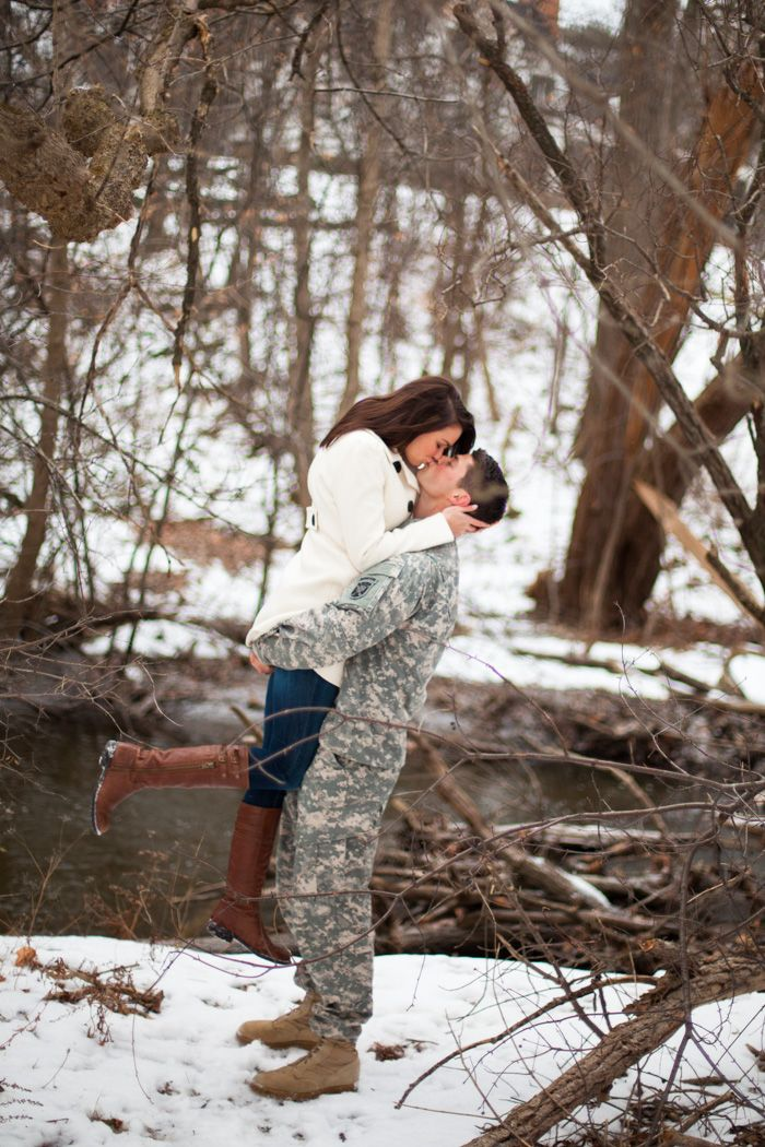 www.chelseabosphotography.com facebook.com/CBosphotography  Military Photo Shoot, Engagement Photography, Couple Photography, Winter Photography, Winter Photo Shoot