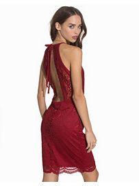 Vmjulliana Sl Short Lace Dress - Vero Moda - Red - Party Dresses - Clothing - Women - Nelly.com