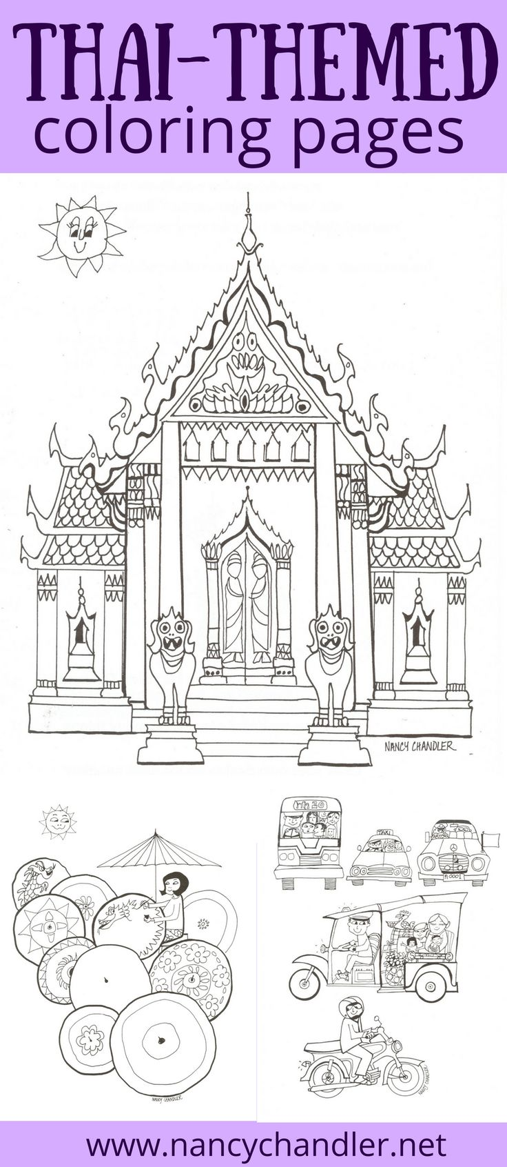 10 besten Thailand Coloring Books by Nancy Chandler Bilder auf ...