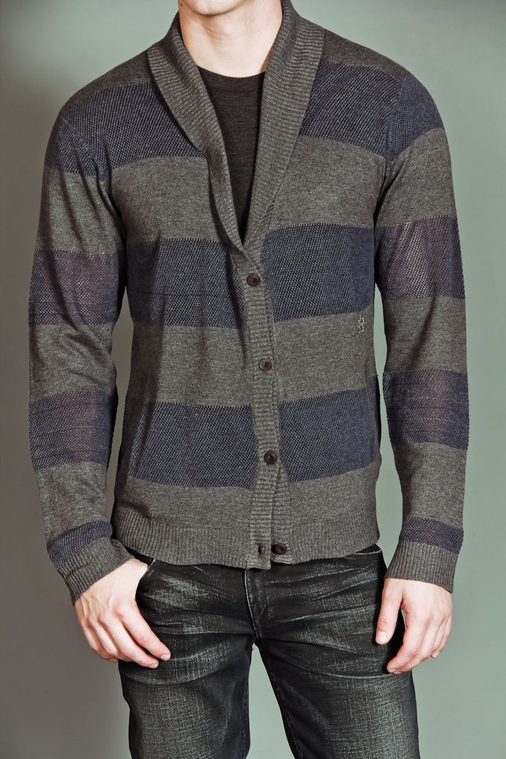 ChambersGr Cardigans, Sweaters Greyblue, Neck Cardigans, Greyblue Stripes, Man Fashion, Kinda Fashion, Cardigan Sweaters, Cardigans Sweaters, Shawl Neck