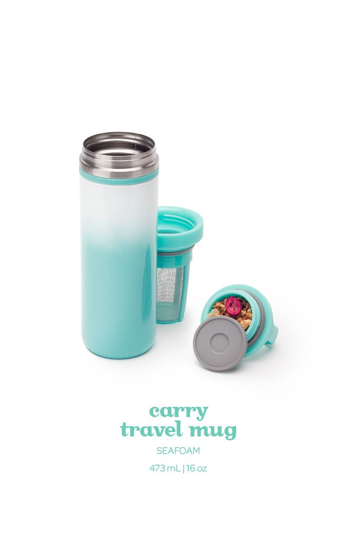 This leakproof travel mug keeps your tea super hot or cold for hours on end.