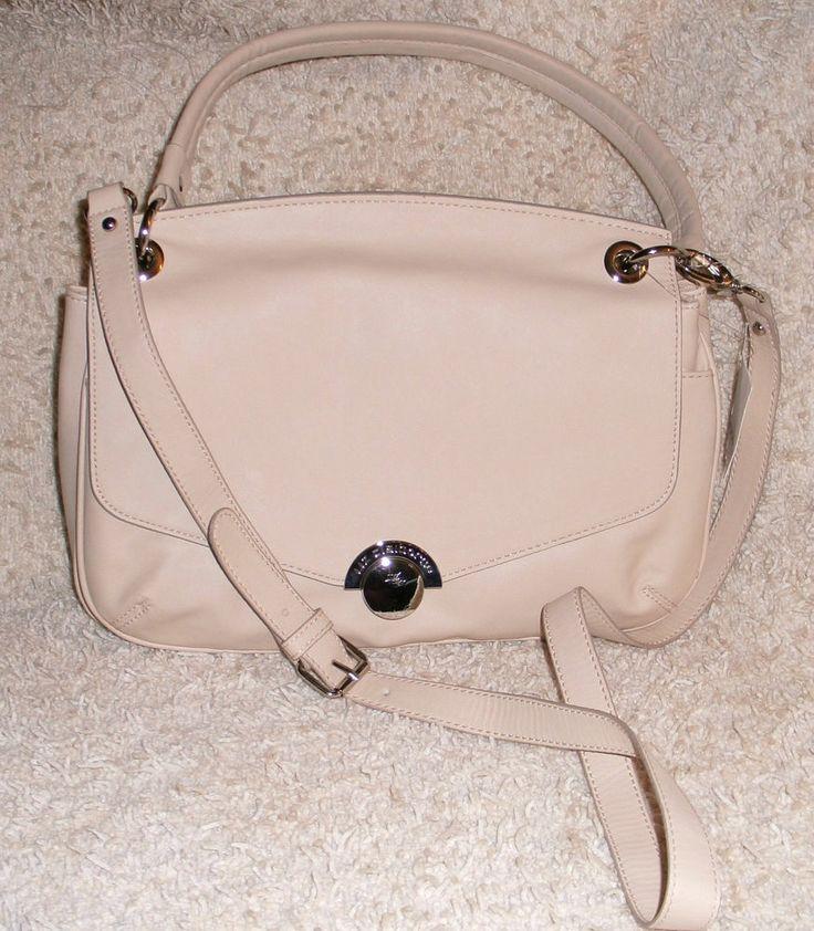 Liz Claiborne Ivory Handbag #LizClaiborne #ShoulderBag