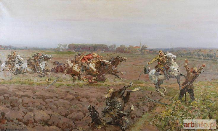 Stanisław BAGIEŃSKI ● Potyczka - epizod z wojny polsko-bolszewickiej, 1922 ● Aukcja ● Artinfo.pl