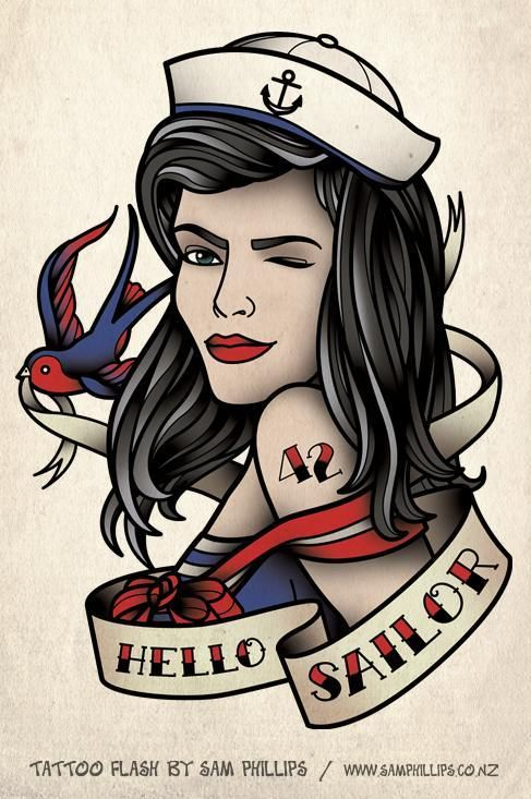 hello sailor girl by sam phillips sea legs pinterest girls by and we heart it. Black Bedroom Furniture Sets. Home Design Ideas