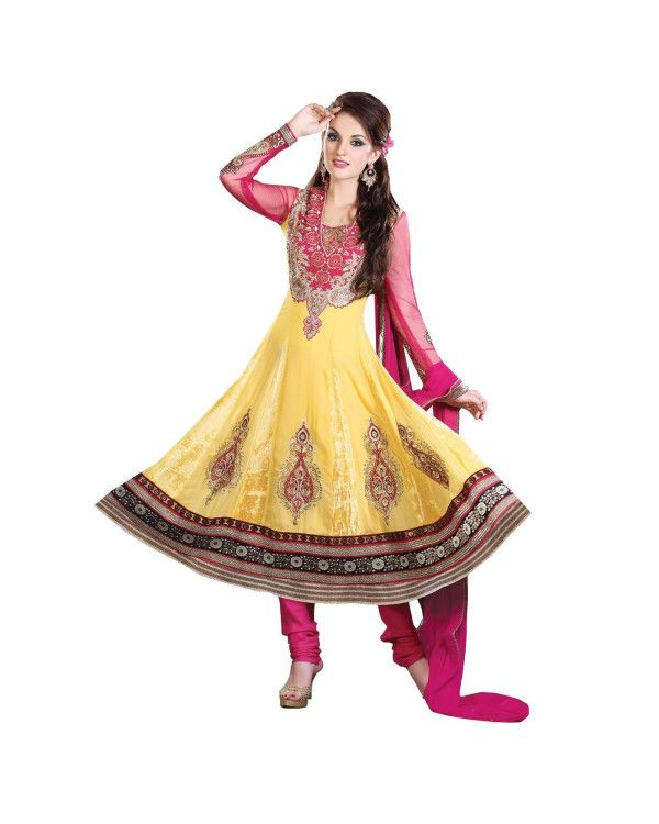 Yellow Embroidered Salwar Suit   To know more or buy, please click Below:- http://www.ethnicstation.com/yellow-embroidered-salwar-suit-ro1050  #EmbroideredSalwar Suit #OnlineShopping