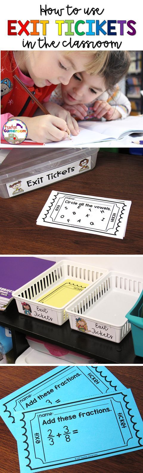 Free Template! Use exit tickets in the classroom