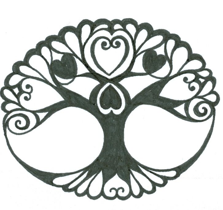 Pinner said...If I would ever get a tattoo, it would be one like this. To remind me to root myself into the earth first, before I reach for the sky and connect them both within the heart of who I am. The Now. - Tribal-Celtic Tree of Life